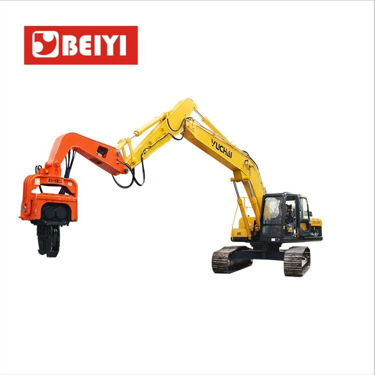 BY-VH250 Vibratory pile driver-excavator mounted vibro hammer