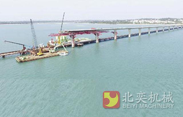 BeiYi Hydraulic pile breaker joins the construction of Taiwan's Jinmen Bridge